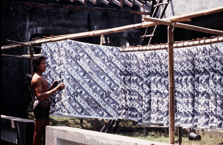 Drying Batik Kain